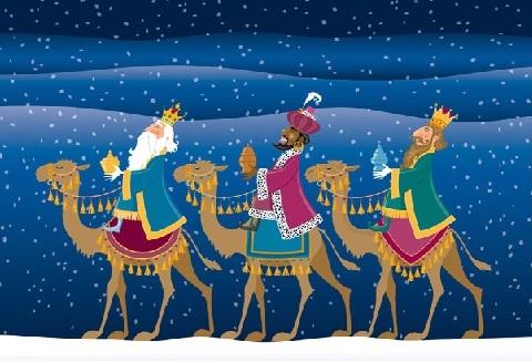 ilustración de los Reyes Magos