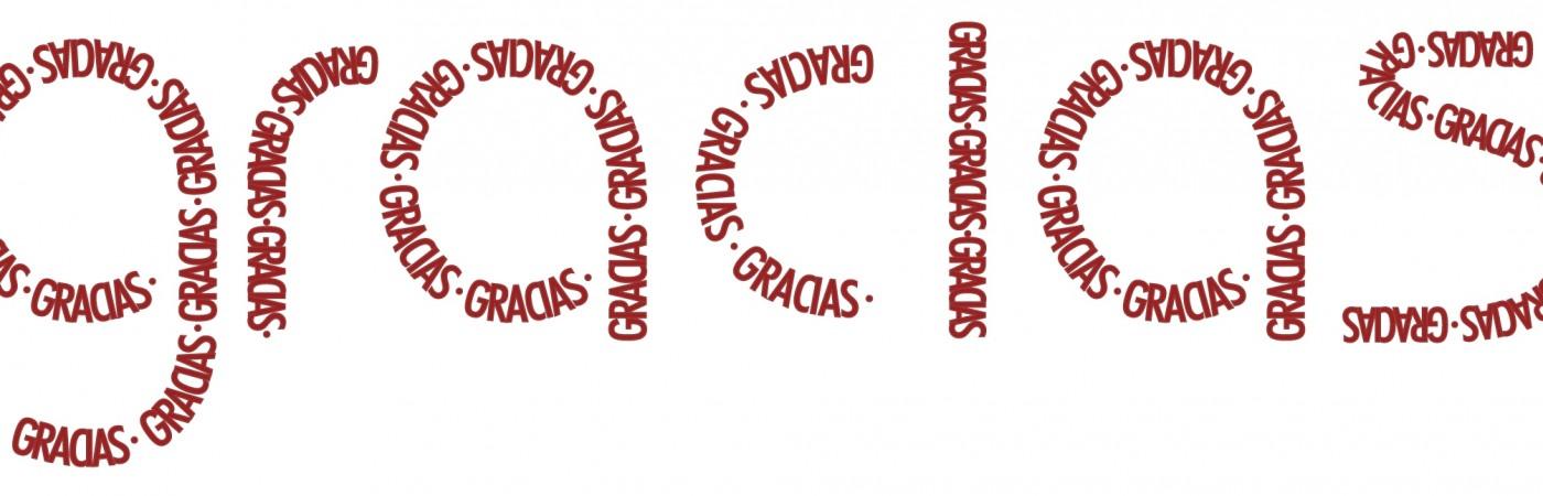 Cartel con la palabra GRACIAS