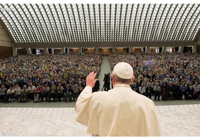 Imagen del Papa en la audiencia general