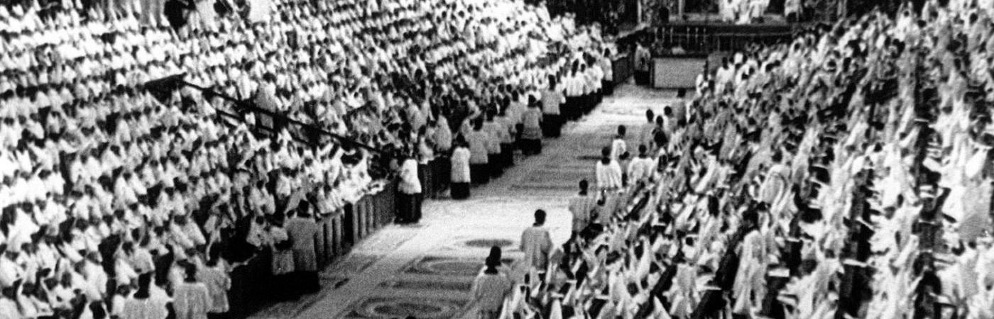 Una de las sesiones del Concilio Vaticano II